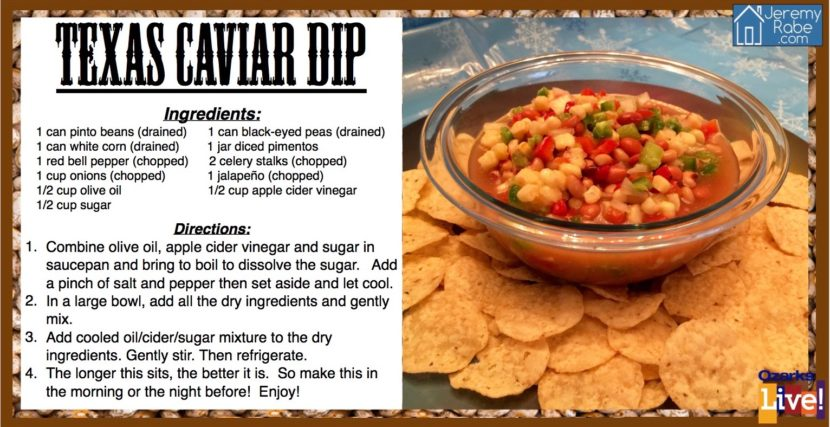 Texas Caviar With Apple Cider Vinegar And Sugar